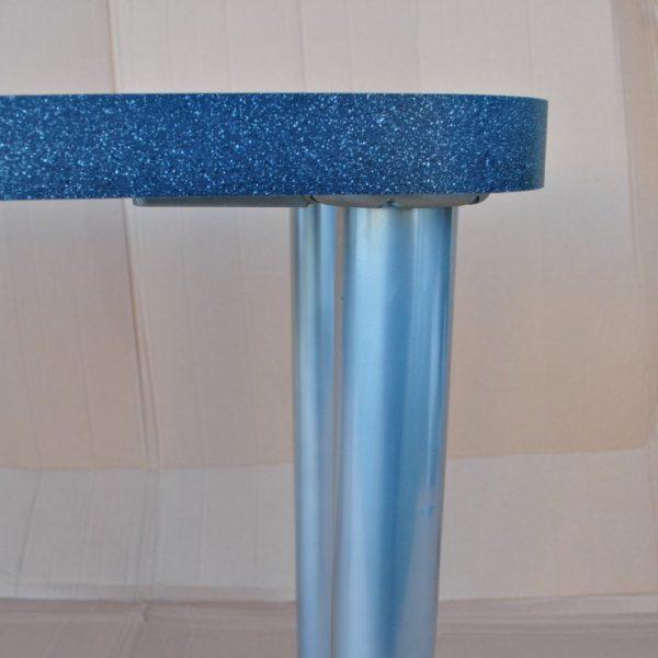 Metalinės dažytos stalo kojos 710x60x60 pilka spalva