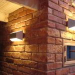 interjero idėja mūro apšvietimui